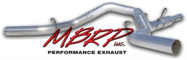 "Fat Bob's Garage, MBRP Part# S6002AL, Chevy Duramax 4"" Installer Series Exhaust Cat Back, Cool Duals System 2001-2005"