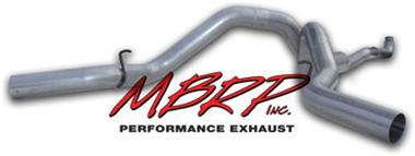 "Fat Bob's Garage, MBRP Part # S6006AL, Chevy Duramax 4"" Installer Series Exhaust - Off Road, Cool Duals System 2001-2005"