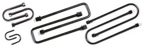 Fat Bob's Garage, BDS Part #40091, 7/16 X 7 5/8 X 4 1/8 Sq Ubolt U-Bolts w/ Hi-Nuts and Washers - Each