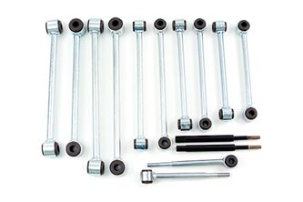 Fat Bob's Garage, BDS Part #124013, Jeep Wrangler YJ Front Solid Anti-sway bar links kit w/bushings 5-6""
