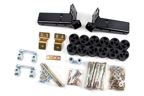 "Fat Bob's Garage, Zone Offroad Part #C1400, Chevrolet/GMC Suburban/Yukon/Tahoe 4"" Combo Kit 4WD/2WD 2007-2010"