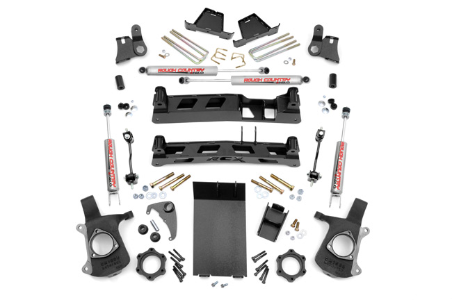 "Fat Bob's Garage, Rough Country Part #272N2, Chevrolet/GMC Silverado/Sierra 1500 6"" Non-Torsion Drop Lift Kit 1999-2006"