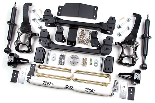 "Fat Bob's Garage, Zone Offroad Part #F10, Ford F150 4WD 6"" Suspension System w/Struts 2009-2010"