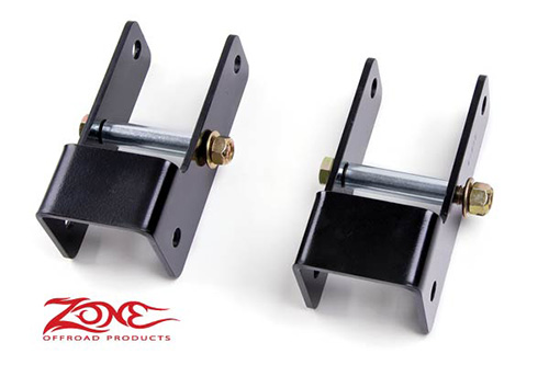 "Fat Bob's Garage, Zone Offroad Part #F5101, Ford Excursion 4WD 1"" Front Shackle Lift 2000-2005"
