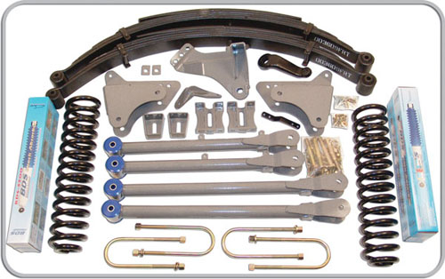 "Fat Bob's Garage, BDS Part #544H, Ford F250/F350 Super Duty 4"" Front 4"" Rear Suspension System 2008-2010"