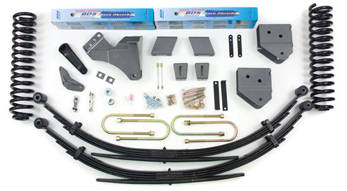 "Fat Bob's Garage, BDS Part #557H, Ford F250/F350 Super Duty 4"" Front 4"" Rear Suspension System 4WD 2008-2010"
