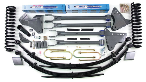 "Fat Bob's Garage, BDS Part #555H, Ford F250/F350 Super Duty 4"" Front 4"" Rear Suspension System 4WD 2008-2010"