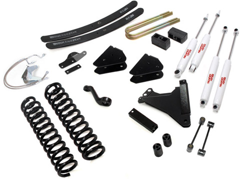 "Fat Bob's Garage, Rough Country Part #594.2, Ford F250/350 Super Duty 6"" Radius Drop Suspension 4WD 2008-2010"