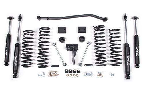 "Fat Bob's Garage, Zone Offroad Part #J14, Jeep JK Wrangler 4"" Suspension System 2007-2016 (2 Door)"