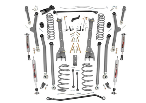 "Fat Bob's Garage, Rough Country Part #PERF659, Jeep Wrangler TJ 6"" X-Series Long Arm Suspension Lift Kit 1997-2006"