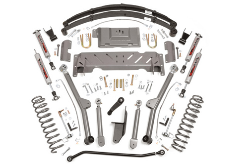 "Fat Bob's Garage, Rough Country Part #PERF672, Jeep Cherokee XJ 6"" X-Series Long Arm Suspension Lift Kit 1984-2001"