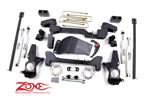 "Fat Bob's Garage, Zone Offroad Part #C4, Chevrolet/GMC Silverado/Sierra 1500HD 6"" IFS System 4WD 2001-2006"