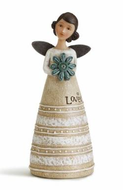Angel Figure Holding Flower for April Birthday_THUMBNAIL