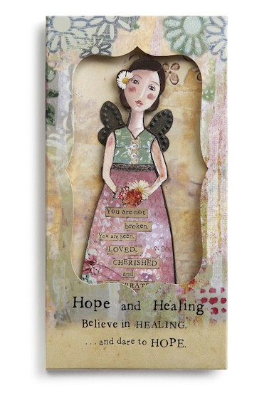 Hope and Healing Angel Ornament Card