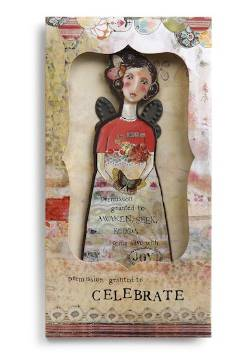 Celebrate Angel Ornament Card