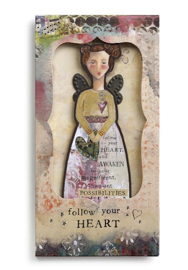 Follow Your Heart Angel Ornament Card