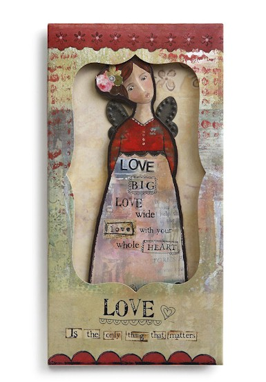 Love Angel Ornament Card