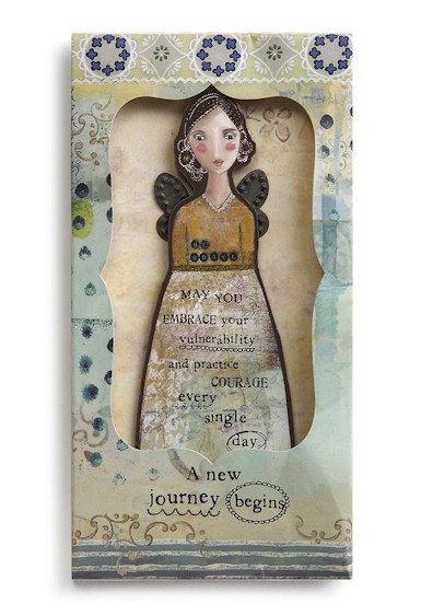 Trust Your Journey Angel Ornament Card