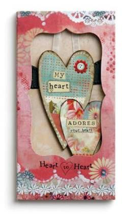 Heart to Heart Ornament Card