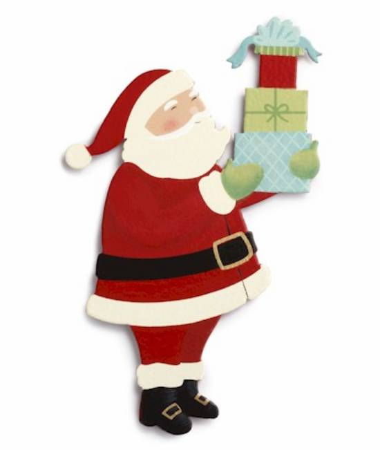 Santa with Packages Magnet