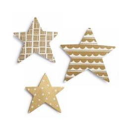 Metallic Star Magnet Set