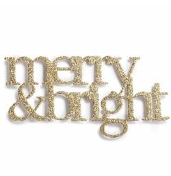 Merry & Bright Metallic Magnet