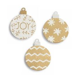 Metallic Ornament Magnet Set