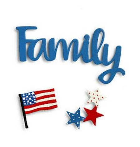 Family Patriotic Magnets