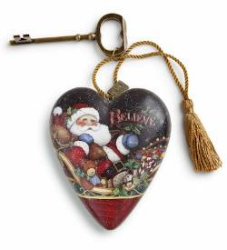 Believe Santa Art Heart