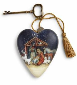 Oh Holy Night Nativity Art Heart