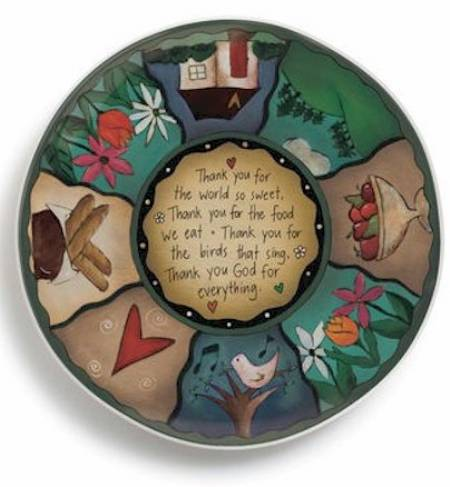 Sweet Table Prayer Round Platter LARGE