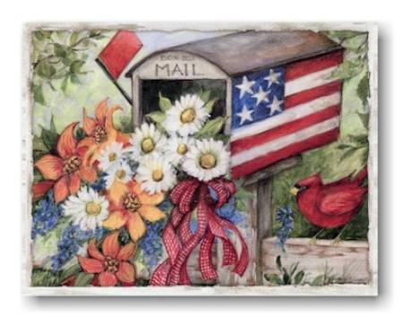 Flag Mailbox Note Cards