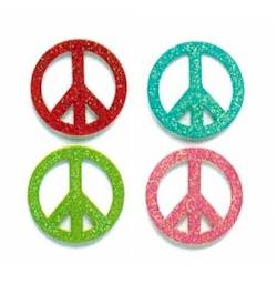 Glittered Peace Magnets THUMBNAIL