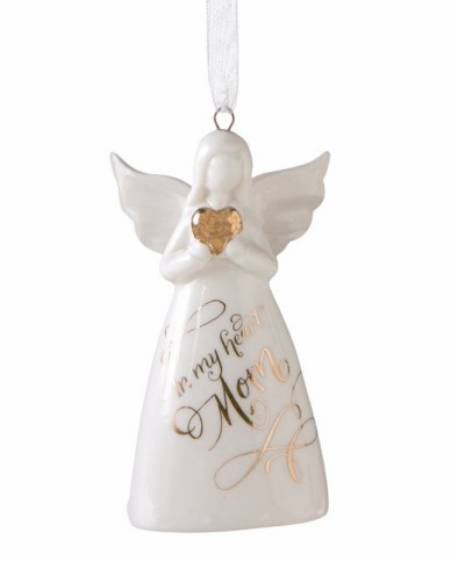 Mom Angel Bell Ornament