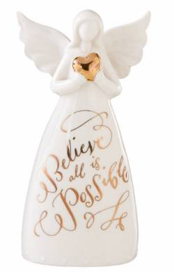Believe Angel Bell Porcelain Figure