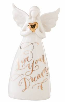 Dreams Angel Bell Porcelain Figure