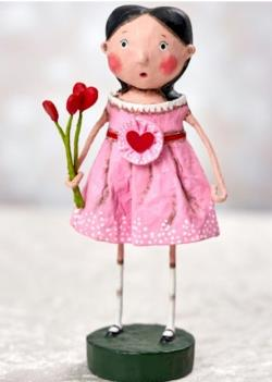 girl with valentine flowers figure THUMBNAIL