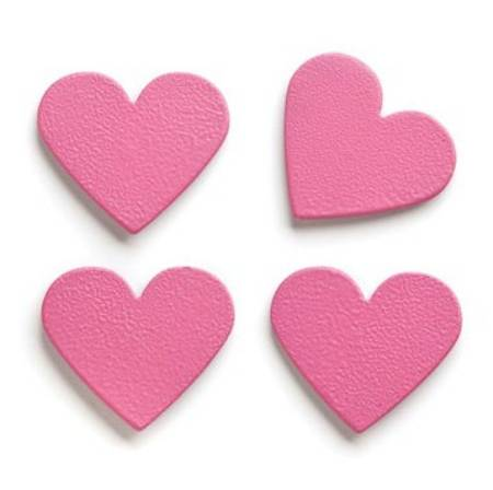 Pink Heart Magnets