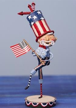 Uncle Sam Patriotic figure with flag THUMBNAIL