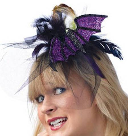 Purple Glittered Bat Headband_MAIN