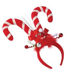 Candy Cane Antlers LED Headband THUMBNAIL