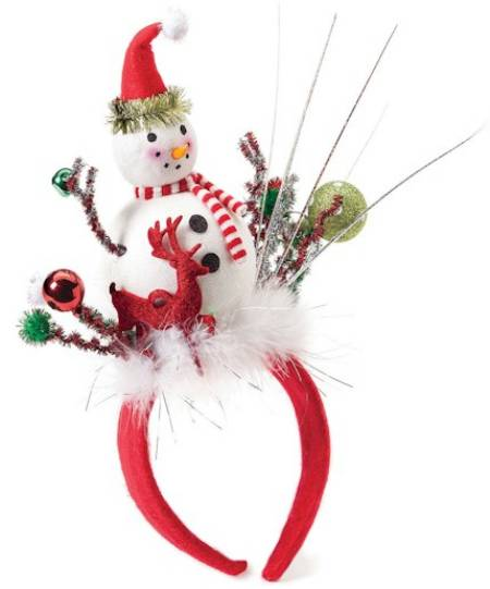 Snowman with Reindeer LED Headband