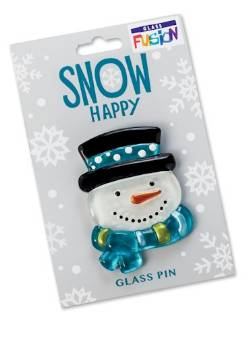 Snow Happy Snowman Pin