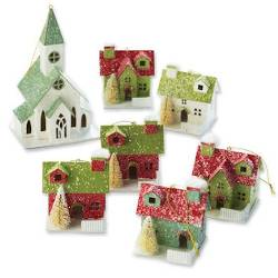 Boxed set of Vintage House Ornaments