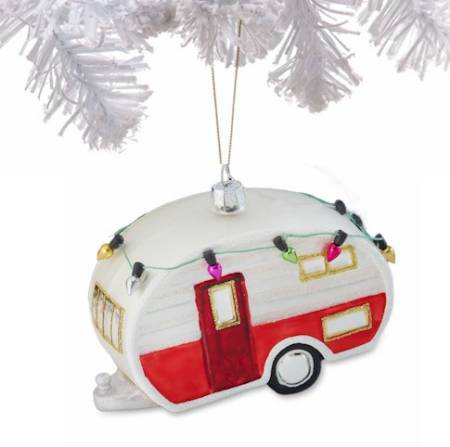 Trailer Glass Ornament