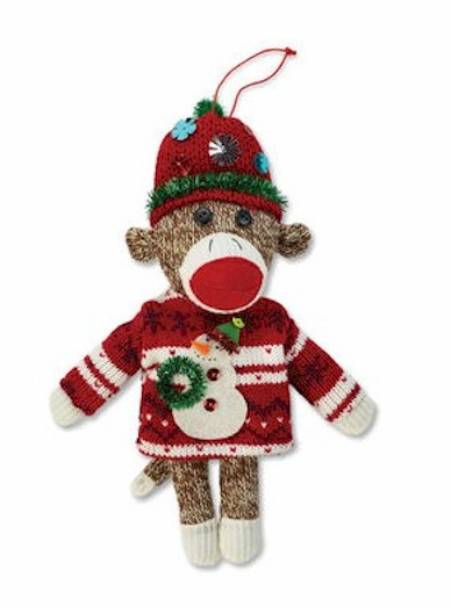Ugly Sweater Monkey Ornament