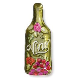 Vino Wine Bottle Plate