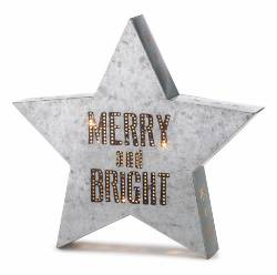 Merry and Bright Metal Wall Art