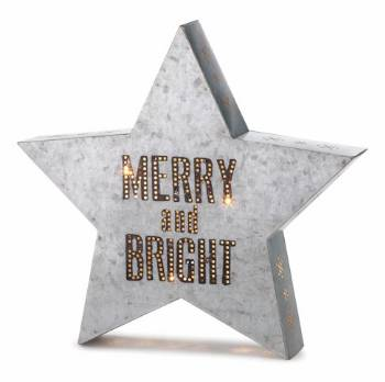 Merry and Bright Metal Wall Art THUMBNAIL