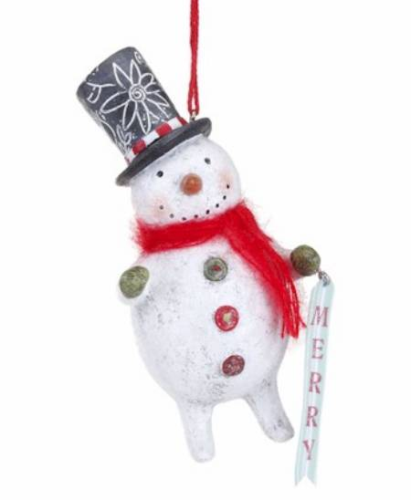Merry Snowman Ornament MAIN